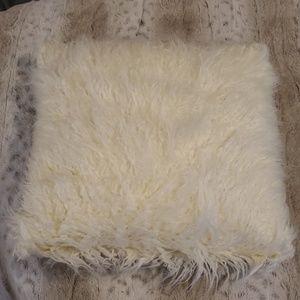 NWT - BCBG Cream Faux Fur Mongolian Pillow